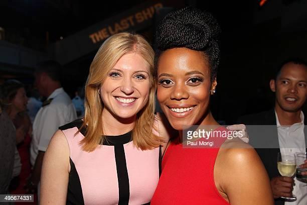 CNN correspondent Erin McPike and actress Christina Elmore attend TNT's The Last Ship screening at NEWSEUM on June 4 2014 in Washington DC JPG