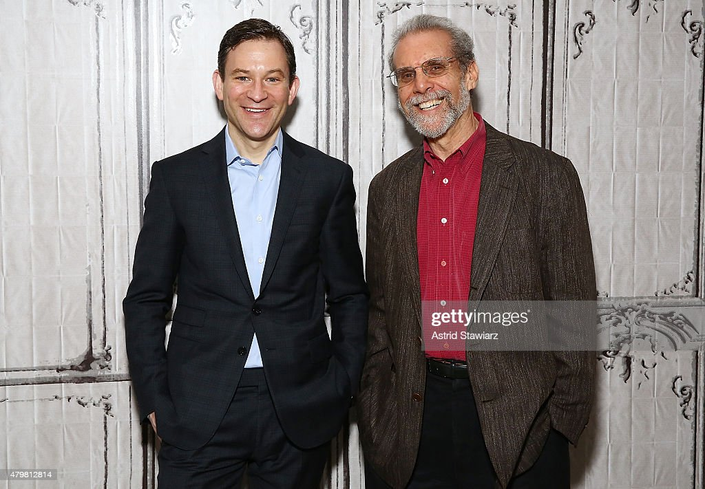 Correspondent for ABC News, Dan Harris and psychologist and science journalist Daniel Goleman attends AOL Build Presents: 'Force for Good: The Dalai Lama's Vision for Our World' at AOL Studios In New York on July 7, 2015 in New York City.