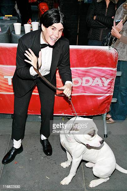 Correspondent Jill Rappaport celebrates Halloween on NBC's Today at Rockefeller Plaza on October 31 2008 in New York City