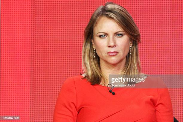 Correspondent Lara Logan of the TV show '60 Minutes Sports' attends the 2013 TCA Winter Press Tour CW/CBS panel held at The Langham Huntington Hotel...