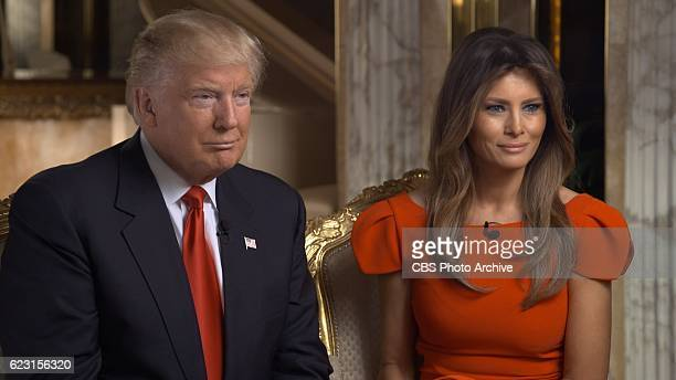 Correspondent Lesley Stahl interviews Presidentelect Donald J Trump and his family including Melania Trump shown here at his Manhattan home Friday...