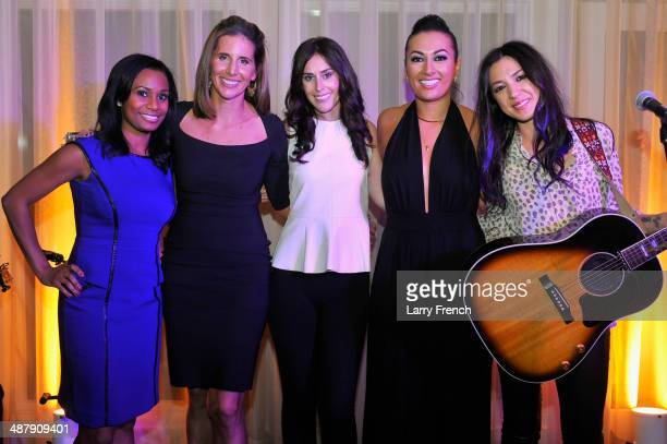 Correspondent Rene Marsh, Leigh Gallagher, Ashley Spillane, Lani Hay and Michelle Branch pose at the Seventh Annual OFF THE RECORD EventCelebrating...