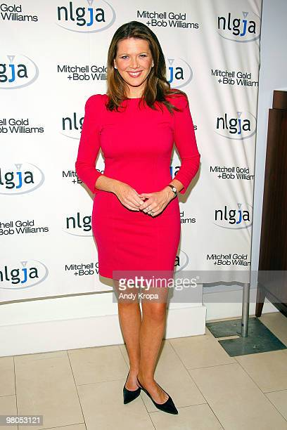 CNBC correspondent Trish Regan attends the NLGJA's 15th Annual New York Benefit at Mitchell Gold Bob Williams SoHo Store on March 25 2010 in New York...
