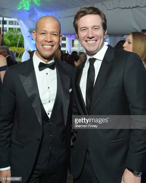 CBS correspondent Vladimir Duthiers and CBS Evening News anchor Jeff Glor attend the CBS News and Politico 2019 White House Correspondents' Dinner...