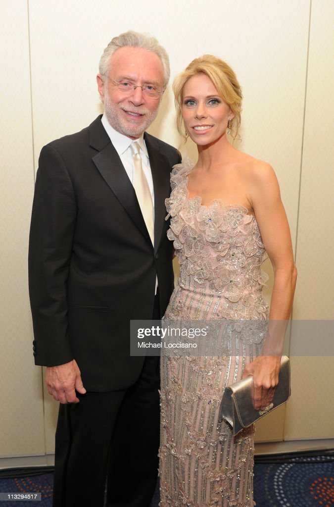 CNN Correspondent Wolf Blitzer and actress Cheryl Hines attend the TIME/CNN/People/Fortune White House Correspondents' dinner cocktail party at the Washington Hilton on April 30, 2011 in Washington, DC.