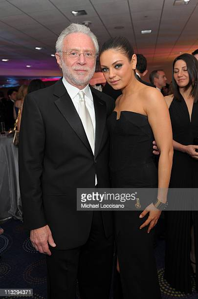 Correspondent Wolf Blitzer and actress Mila Kunis attend the TIME/CNN/People/Fortune White House Correspondents' dinner cocktail party at the...