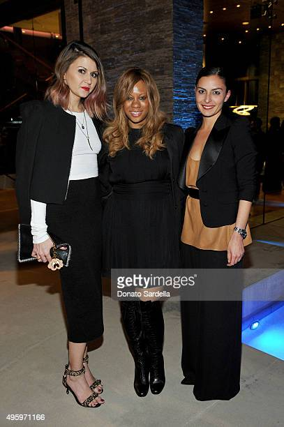Corri McFadden Farfetch CMO Stephanie Horton and Coco Mowinckel attend a private dinner hosted by Farfetch Erica Pelosini Angelique Soave DJ Kiss to...