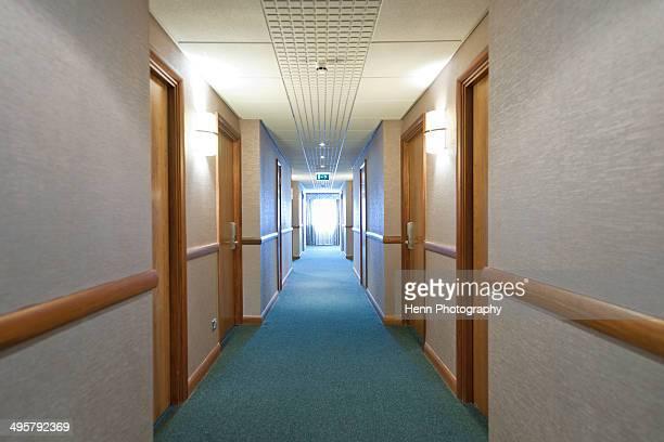 corridor at hotel in the UK