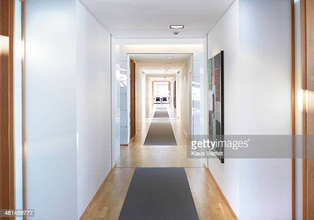 Corridor at luxury office building