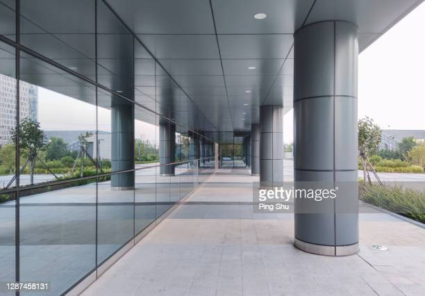 corridor at the entrance of office building - entrance sign stock pictures, royalty-free photos & images