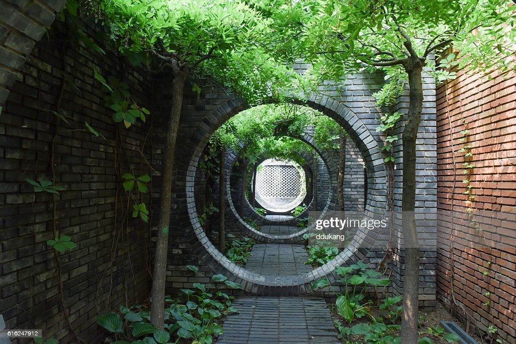Corridor in Beijing : Stock Photo