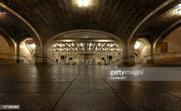 corridor in grand central station - grand central station stock photos and pictures
