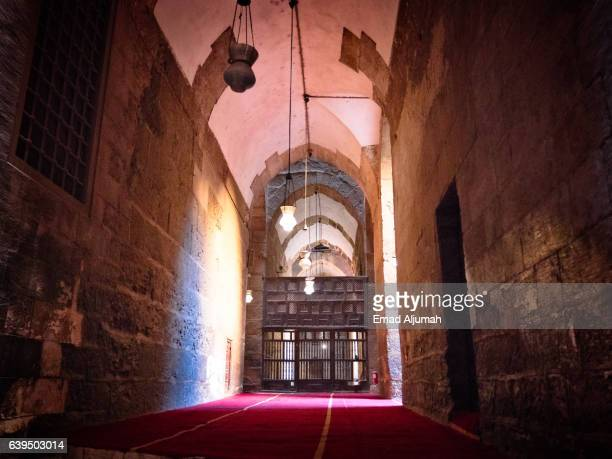 Corridor in the Sultan Hassan Mosque and Madrasa, Cairo, Al Qahirah, Egypt