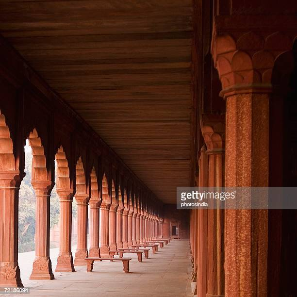 Corridor of a mausoleum, Taj Mahal, Agra, Uttar Pradesh, India