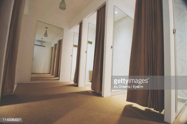 corridor of building - dressing room stock pictures, royalty-free photos & images