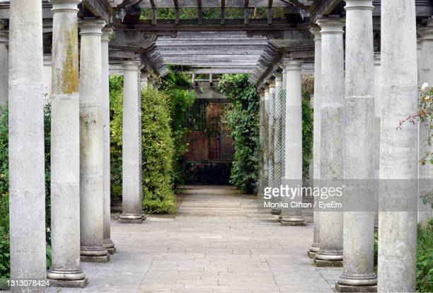 corridor of old building - history stock pictures, royalty-free photos & images