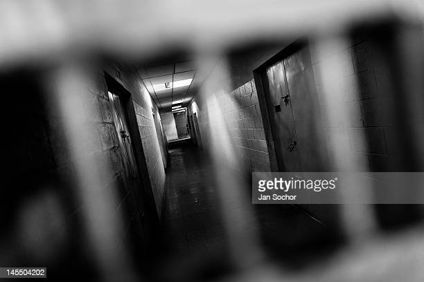 A corridor of the prison for the Mara Salvatrucha gang members in Tonacatepeque on May 18 2011 in Tonocatepeque El Salvador During the last two...