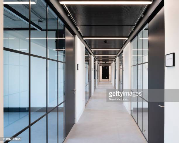 Corridor. The Frames, London, United Kingdom. Architect: Squire and Partners, 2018.