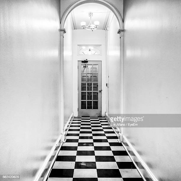 Corridor With Checked Floor
