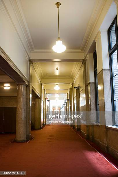 Corridor with red carpet