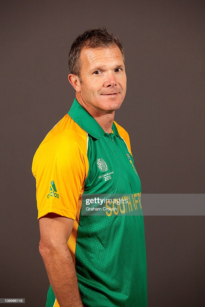 Corrie van Zyl coach of South Africa poses during a portrait session ahead of the 2011 ICC World Cup at the Sheraton Hotel and Towers on February 11, 2011 in Chennai, India.