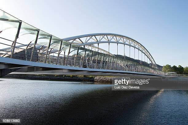 corrientes bridge (pontevedra - spain) - provincia di pontevedra foto e immagini stock