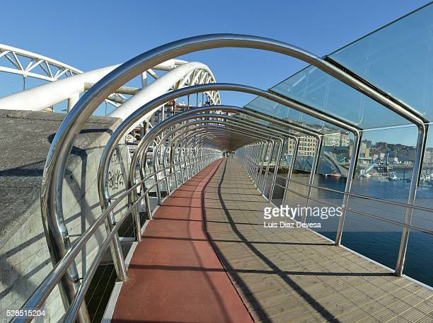 corrientes bridge (pontevedra - spain) - pontevedra province stock photos and pictures