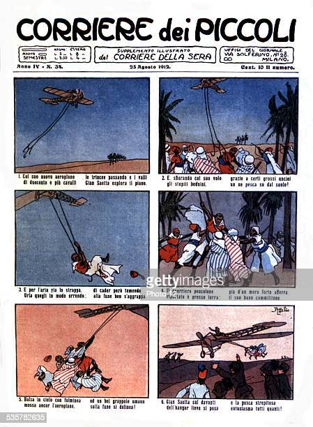 'Corriere dei Piccoli' newspaper telling children the adventures of Italian soldiers in Libya Italy Colonization of libya