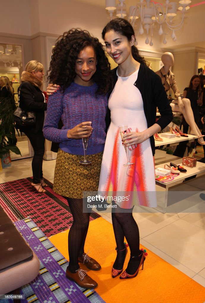 Corrine Bailey Rae and Caroline Issa attend as L.K. Bennett London and Caroline Issa launch their exclusive collection of shoes and handbags for Spring Summer 2013 at L.K. Bennett on February 18, 2013 in London, England.