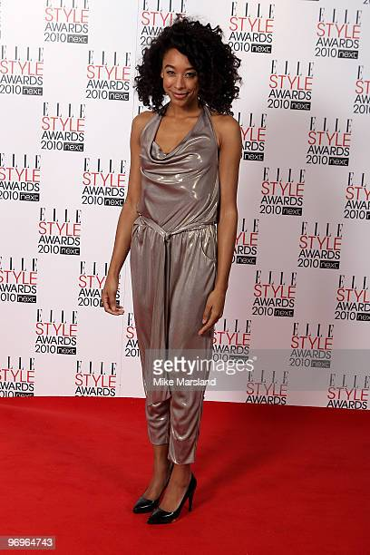 Corrine Bailey Rae in the Winner's room at the ELLE Style Awards 2010 at the Grand Connaught Rooms on February 22, 2010 in London, England.