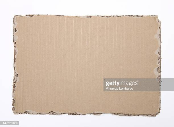 Corrugated cardboard on a white cackground