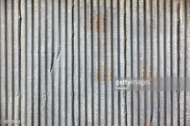 corrugated iron frame background with lines - corrugated iron stock photos and pictures