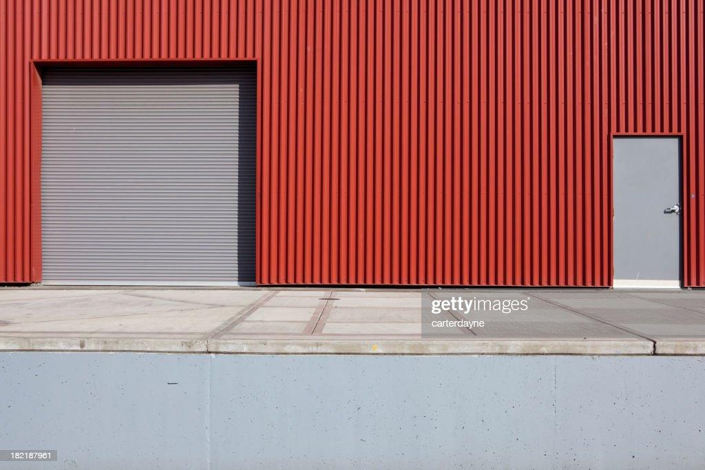 Corrugated Metal Industrial Warehouse and Door XXXL  Stock Photo & Corrugated Metal Industrial Warehouse And Door Xxxl Stock Photo ...