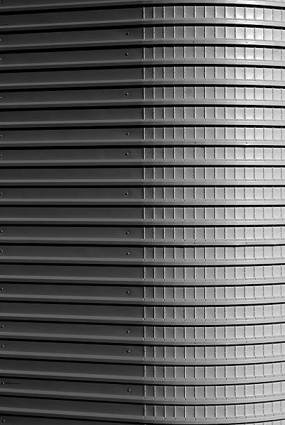 Corrugated wall of building