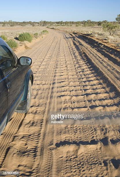 Corrugations in unsealed outback roads can cause damage to vehicles Innamincka Regional Reserve South Australia