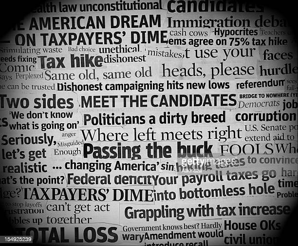 corrupt political headlines - satire stock pictures, royalty-free photos & images