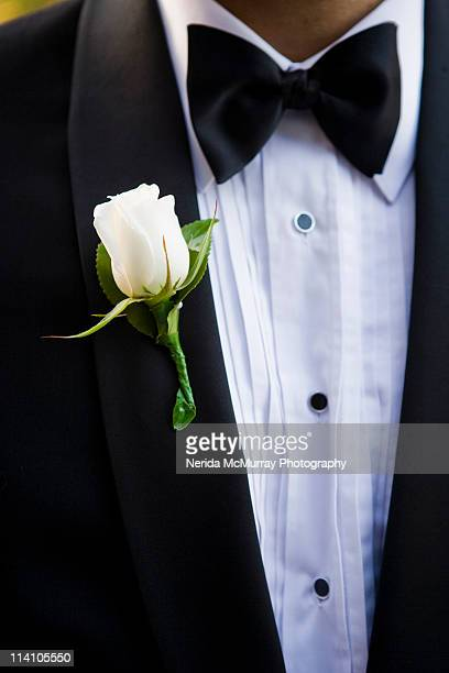 corsage on suit