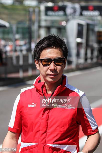 Corse, Ferrari 458 Italia driver Kamui Kobayashi walking thru the pit lane prior to the start of the WEC 6 Hours of Spa-Francorchamps, Round 2 of the...