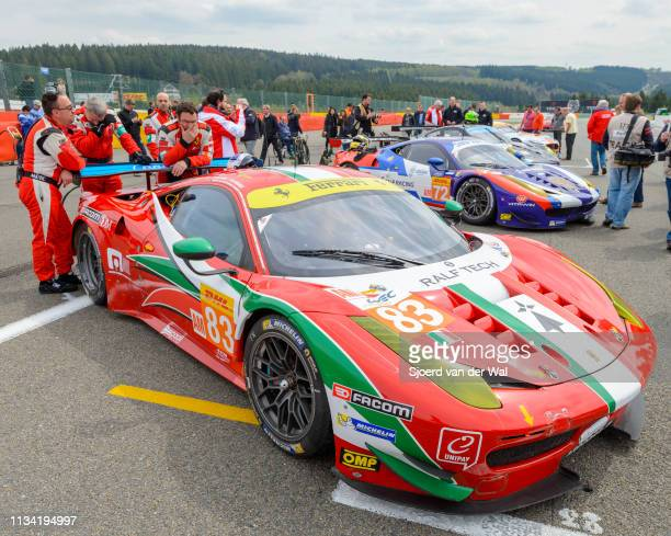 Corse Ferrari 458 Italia GT race car at the start grid during the 6 Hours of SpaFrancorchamps race the second round of the 2015 FIA World Endurance...