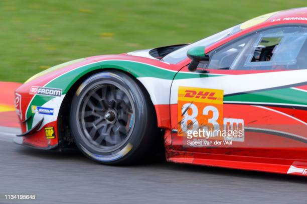 Corse Ferrari 458 Italia GT race car driven by PERRODO F.COLLARD E.AGUAS R. On track during the 6 Hours of Spa-Francorchamps race, the second round...
