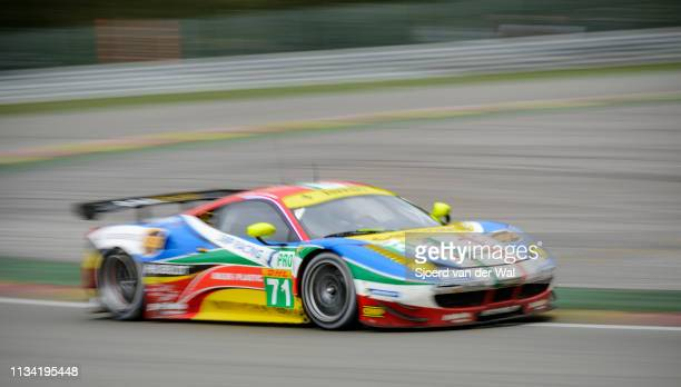 Corse Ferrari 458 Italia GT race car driven by RIGON D CALADO J on track during the 6 Hours of SpaFrancorchamps race the second round of the 2015 FIA...