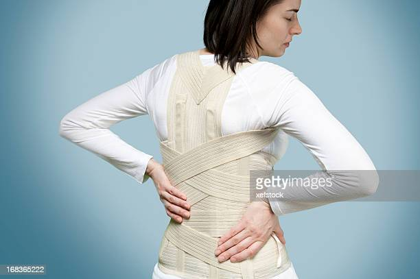 corset for backache - torso stock pictures, royalty-free photos & images