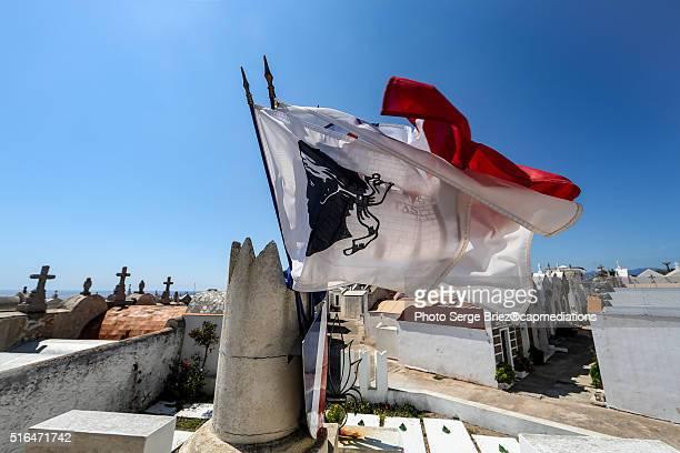 Corsica flag in Bonifacio
