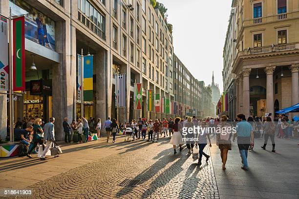 Corso Vittorio Emanuele II a Milano al Golden ora