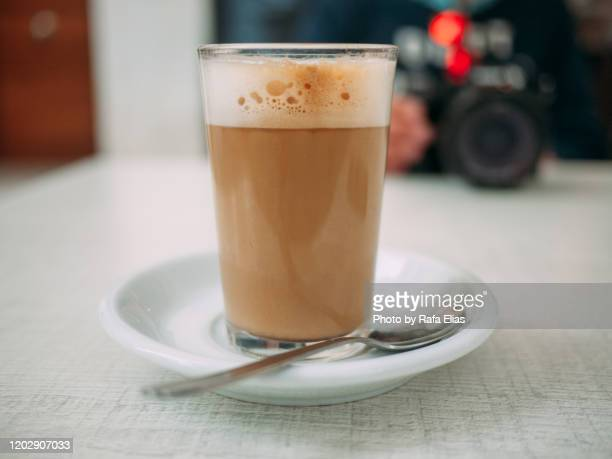 cortado coffee - mocha stock pictures, royalty-free photos & images