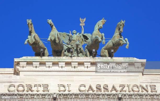 corte di cassazione (supreme court) - costituzione italiana foto e immagini stock