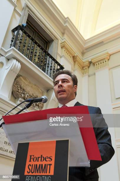 Corte Ingles President Dimas Gimeno attends the Forbes Summit Reinventing Spain 2017 at the San Fernando Museum on October 24 2017 in Madrid Spain