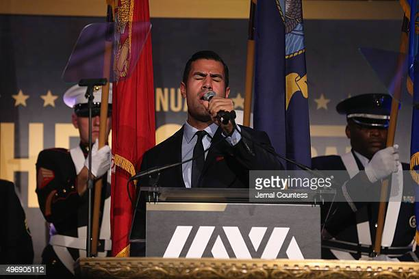 W Cortes performs on stage at the 9th Annual IAVA Heroes Gala at the Cipriani 42nd Street on November 12 2015 in New York City