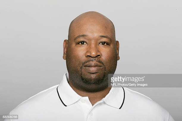 Cortez Kennedy of the New Orleans Saints poses for his 2005 NFL headshot at photo day in New Orleans Louisiana