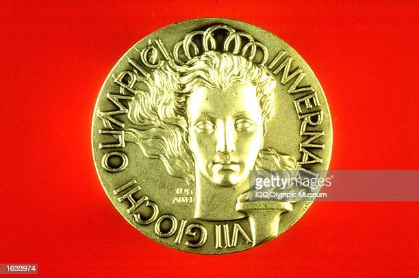 Cortina D''Amprezzo Winter Olympic Games Commemorative Medal. The medal is in the IOC, Olympic Museum in Lausanne, Switzerland. \ Mandatory Credit: IOC, Olympic Museum /Allsport